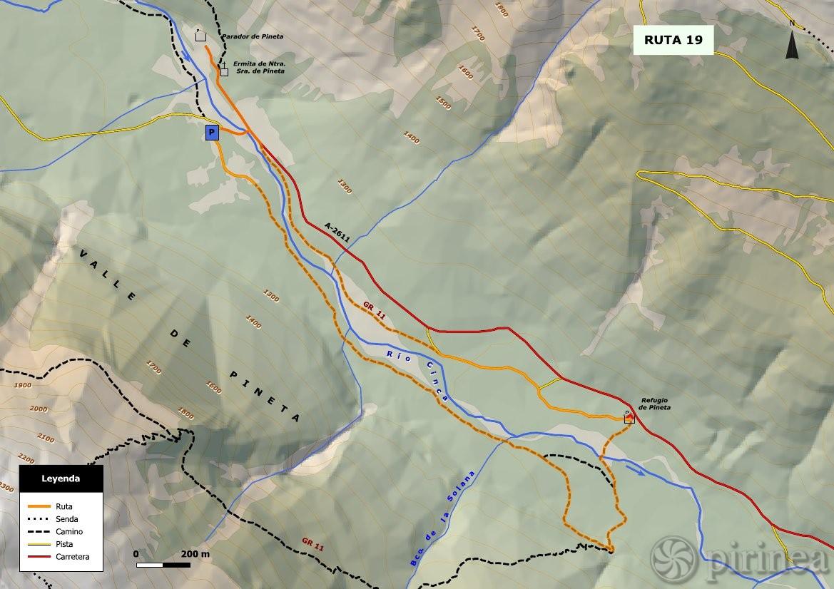 Valle De Pineta Mapa.Fondo Del Valle De Pineta Turismo De Bielsa